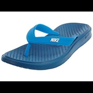 Nike Solay Blue Big Kids Thong Flip Flops Sandal